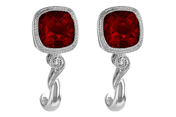 A238-34712: EARRINGS 2.36 GARNET 2.40 TGW