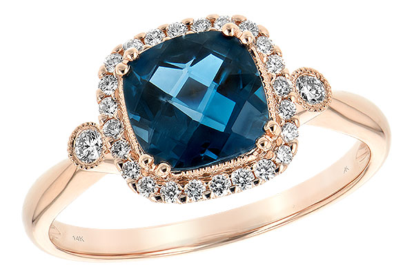 A243-73749: LDS RG 1.62 LONDON BLUE TOPAZ 1.78 TGW