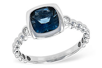 A243-80094: LDS RG 1.58 LONDON BLUE TOPAZ 1.66 TGW