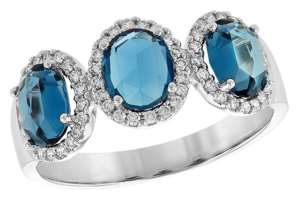 A244-63803: LDS RG 1.80 TW LONDON BLUE TOPAZ 2.02 TGW