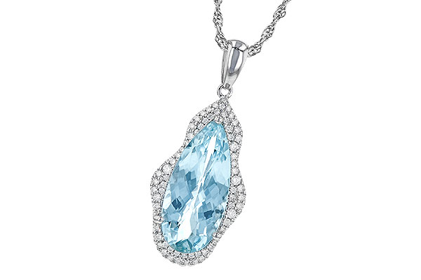 A244-69212: NECK 3.97 AQUAMARINE 4.20 TGW