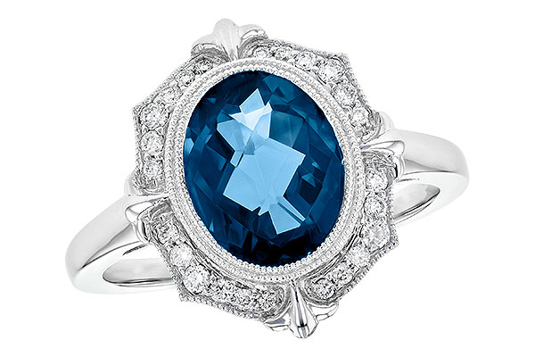 A244-71012: LDS RG 3.00 LONDON BLUE TOPAZ 3.16 TGW