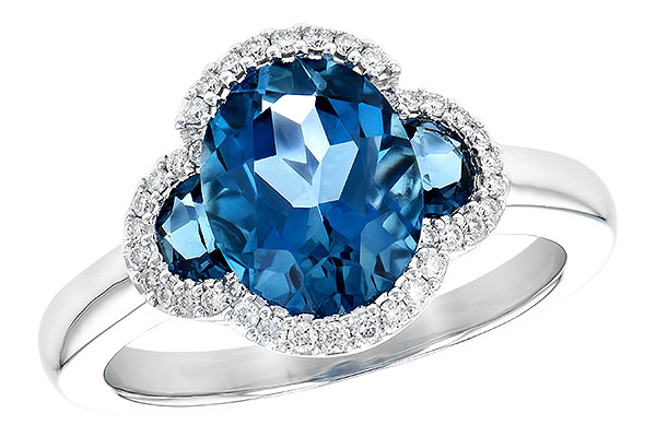 B244-69239: LDS RG 3.04 TW LONDON BLUE TOPAZ 3.20 TGW