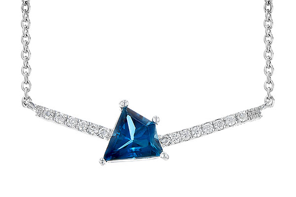 B244-70103: NECK .87 LONDON BLUE TOPAZ .95 TGW