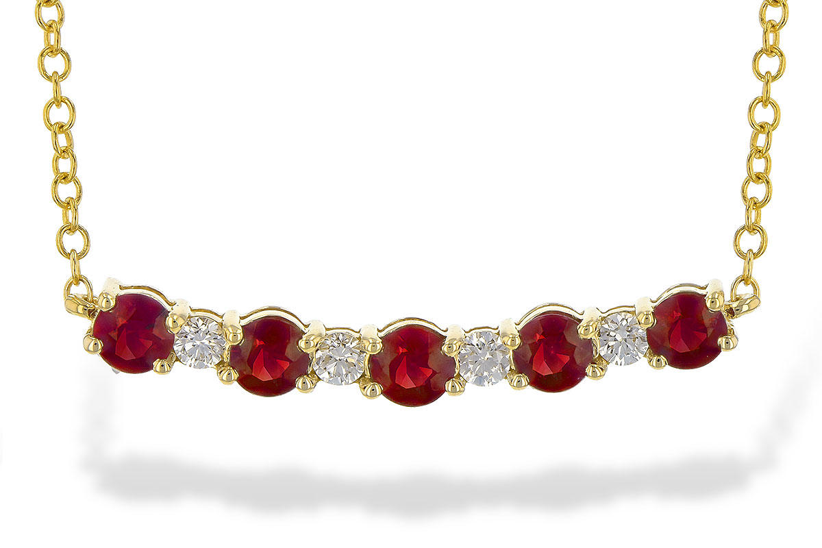 B244-71912: NECK .58 TW RUBY .70 TGW