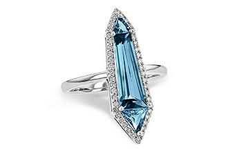 C244-64676: LDS RG 2.20 LONDON BLUE TOPAZ 2.41 TGW
