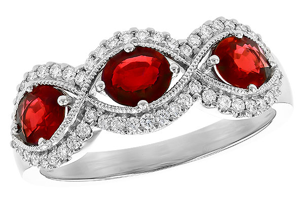 C327-40148: LDS WED RG 1.10 TW RUBY 1.35 TGW