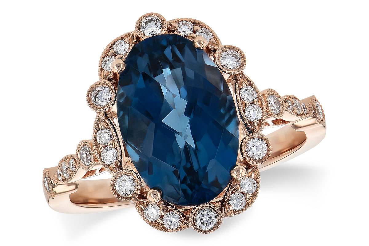 D244-65612: LDS RG 3.80 LONDON BLUE TOPAZ 4.06 TGW
