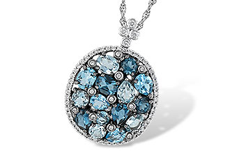 E241-94712: NECK 3.12 BLUE TOPAZ 3.41 TGW