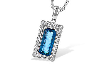 E244-71012: NECK 1.55 LONDON BLUE TOPAZ 1.70 TGW