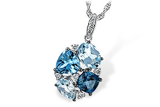 F243-73730: NECK 2.60 BLUE TOPAZ 2.70 TGW