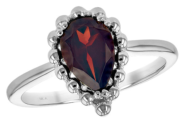 F243-76530: LDS GARNET RING 1.38 CT