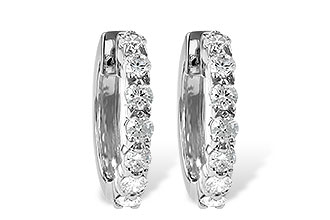 G055-57375: EARRINGS 1.00 CT TW