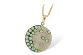 G242-84712: NECK .95 ROSE CUT GREEN GARNET 1.37 TGW