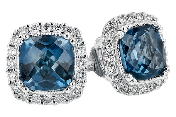 G243-73748: EARR 2.14 LONDON BLUE TOPAZ 2.40 TGW