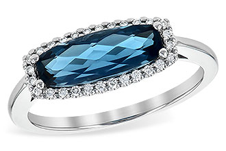 H244-68348: LDS RG 1.79 LONDON BLUE TOPAZ 1.90 TGW