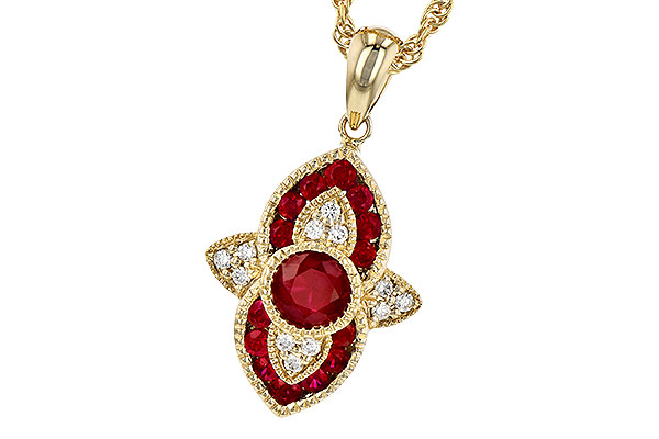 H327-39257: NECK .63 TW RUBY .70 TGW