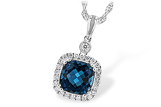 K243-73730: NECK 1.63 LONDON BLUE TOPAZ 1.80 TGW