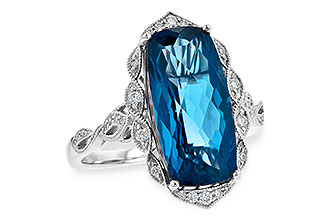K244-64639: LDS RG 6.75 LONDON BLUE TOPAZ 6.90 TGW