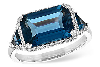 L244-65584: LDS RG 4.60 TW LONDON BLUE TOPAZ 4.82 TGW