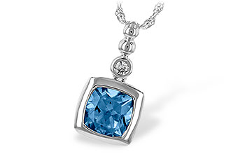 M243-77402: NECK 1.45 BLUE TOPAZ 1.49 TGW